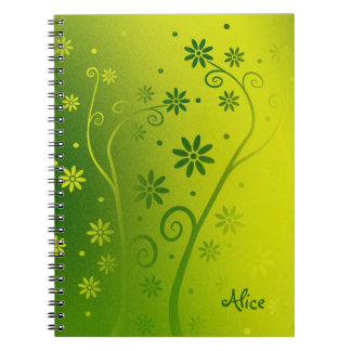 Personalizable Cute Blooming Flowers Note Book