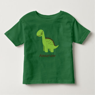 Personalizable Cute Green Dinosaur Toddler T-Shirt