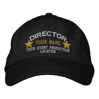 Personalizable DIRECTOR Stars Cap Embroidery Baseball Cap