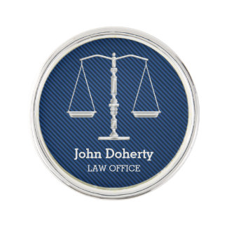 Personalizable Elegant Scales of Justice Lapel Pin
