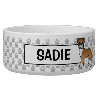 Personalizable Fawn Boxer Dog And Name