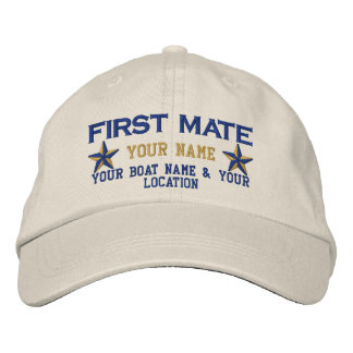 Personalizable First Mate Stars Cap Embroidery Embroidered Baseball Caps