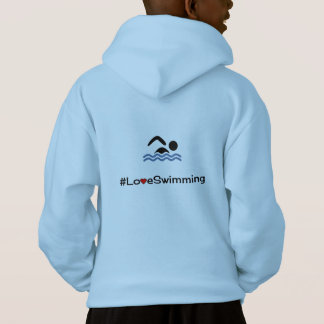 Personalizable front love swimming pictogram