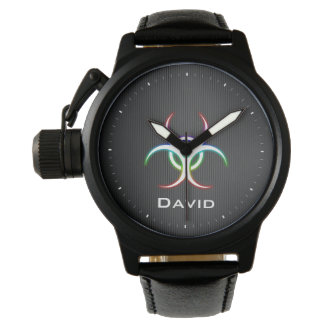 Personalizable Glow Biohazard Symbol | Cool Watch