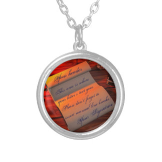 Personalizable Handwritten Letter Silver Plated Necklace