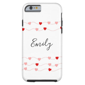 Personalizable hearts iPhone case