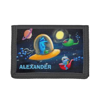 Personalizable Kids Wallet | Funny Aliens Wallet
