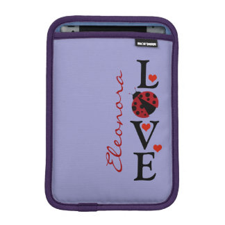 personalizable love ladybug iPad mini sleeve