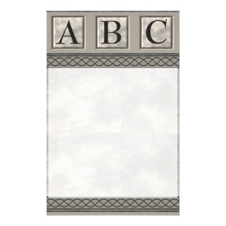 Personalizable Marble Monogram Custom Stationery