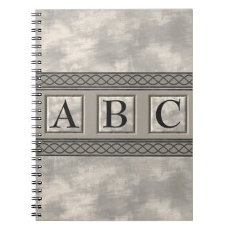 Personalizable Marble Monogram Spiral Note Book