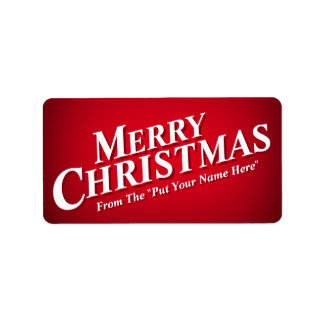 Personalizable Merry Christmas Sticky Labels