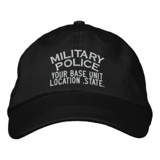 Personalizable Military Police Hat Embroidered Hats