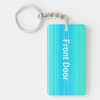 Personalizable Pastel Turquoise Blue Green Pattern Key Ring