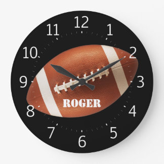 Personalizable Rugby Large Clock