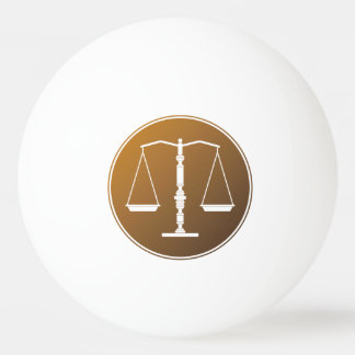 Personalizable Scales of Justice Symbol Ping-Pong Ball