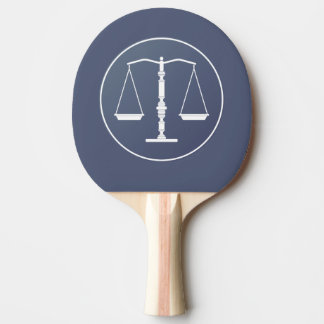 Personalizable Scales of Justice Symbol Ping Pong Paddle