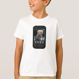 Personalizable Smartphone Screen Background T-Shirt
