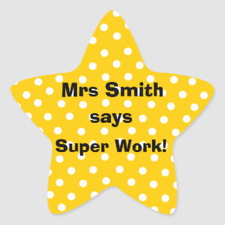 Personalizable Teacher stickers -  Super Work