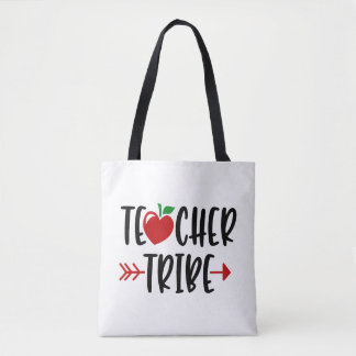 Personalizable Teacher Tribe Fun Script Tote Bag