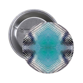 Personalizable Teal Black Optical Blur Illusion 6 Cm Round Badge