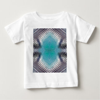 Personalizable Teal Black Optical Blur Illusion Baby T-Shirt