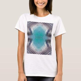 Personalizable Teal Black Optical Blur Illusion T-Shirt