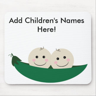 Personalizable Two Peas in A Pod Mouse Pad