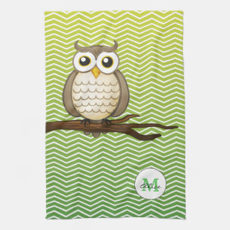 Personalizable Wise Owl | KitchenTowel Tea Towel
