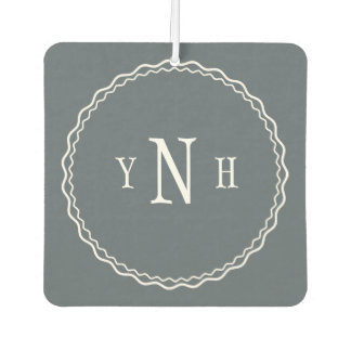 Personalizable with three-letter Monogram