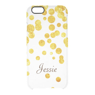 Personalizd Lucky Gold Coins Clear iPhone 6/6S Case