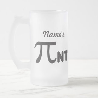 Personalize - 2011 Funny Pi Pint - Pi Day Gifts Frosted Glass Beer Mug