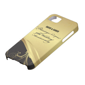 Personalize, 50th Wedding Anniversary Religious Barely There iPhone 5 Case