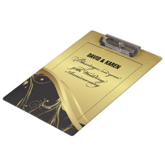 Personalize, 50th Wedding Anniversary Religious Clipboard