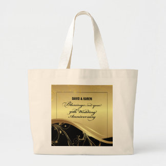 Personalize, 50th Wedding Anniversary Religious Large Tote Bag