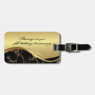Personalize, 50th Wedding Anniversary Religious Luggage Tag
