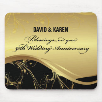 Personalize, 50th Wedding Anniversary Religious Mouse Pad