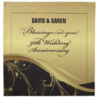 Personalize, 50th Wedding Anniversary Religious Napkin