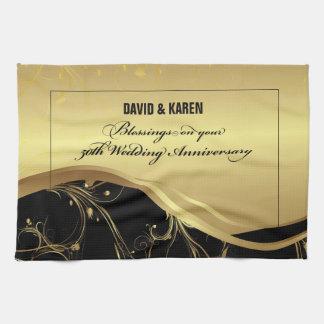 Personalize, 50th Wedding Anniversary Religious Tea Towel