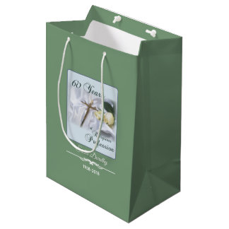 Personalize, 60 Years of Religious Profession Medium Gift Bag