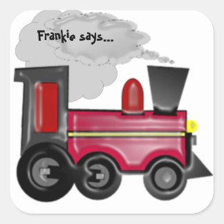 Personalize A 3D Train Sticker