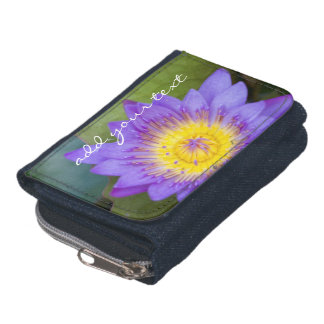 (Personalize) A Brilliant Blue Water Lily Bloom Wallets