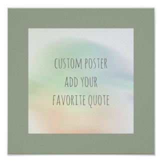 personalize a custom poster add your own quote