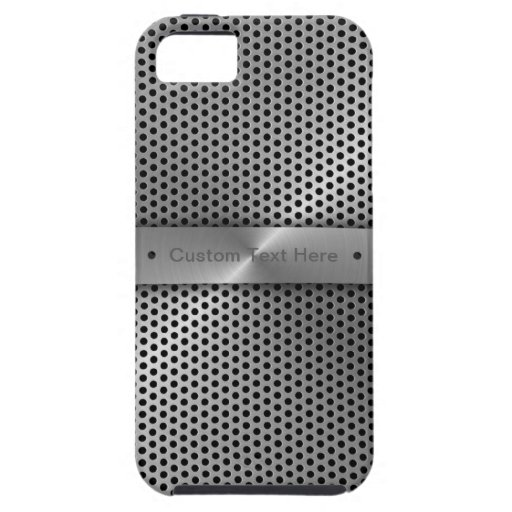 Personalize Aluminium Plate iPhone 5 Covers