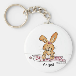 Personalize Baby Girl Design with Name Basic Round Button Key Ring