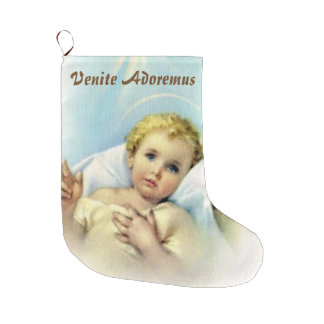 Personalize Baby Jesus Large Christmas Stocking