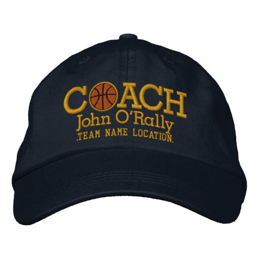 Personalize Basketball Coach Cap Your Name n Game! Embroidered Hats