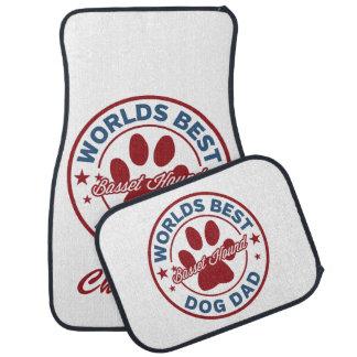Personalize Basset Hound Worlds Best Dog Dad Car Mat