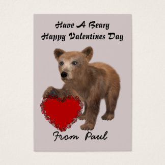Personalize Bear Valentines Day Cards for Kids