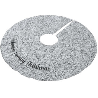 Personalize Beautiful Silver glitter sparkles Brushed Polyester Tree Skirt