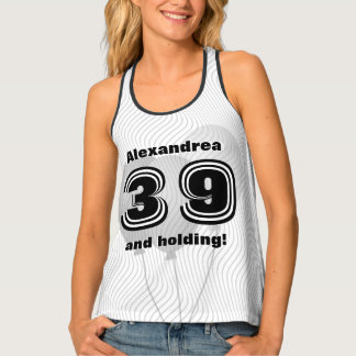 Personalize: Birthday 01 - 99th Black and White Singlet